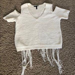 BCGC sweater top. Cut out crop. Sz M